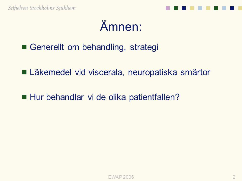 Ämnen: Generellt om behandling, strategi