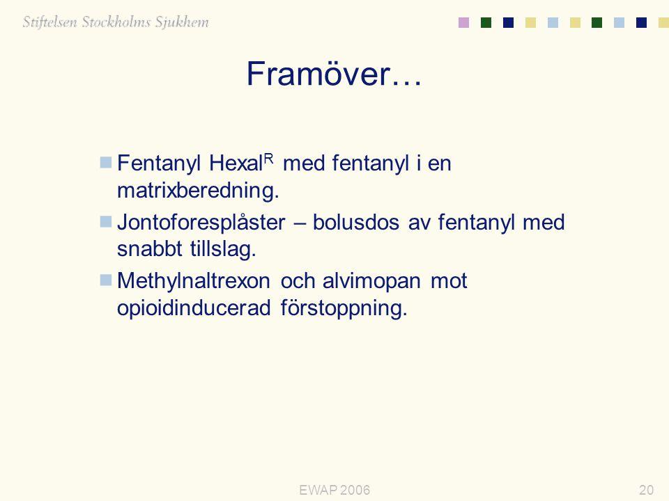 Framöver… Fentanyl HexalR med fentanyl i en matrixberedning.