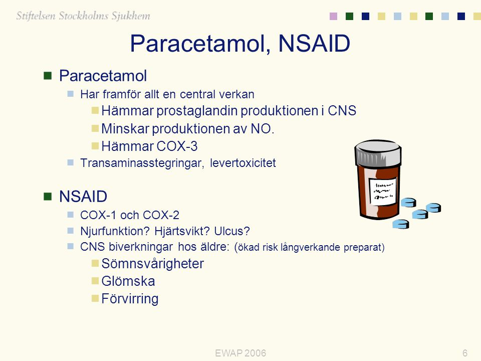 Paracetamol, NSAID Paracetamol NSAID