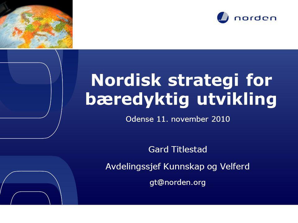 Nordisk strategi for bæredyktig utvikling
