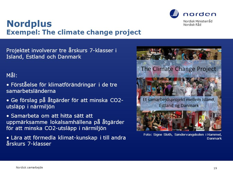 Nordplus Exempel: The climate change project