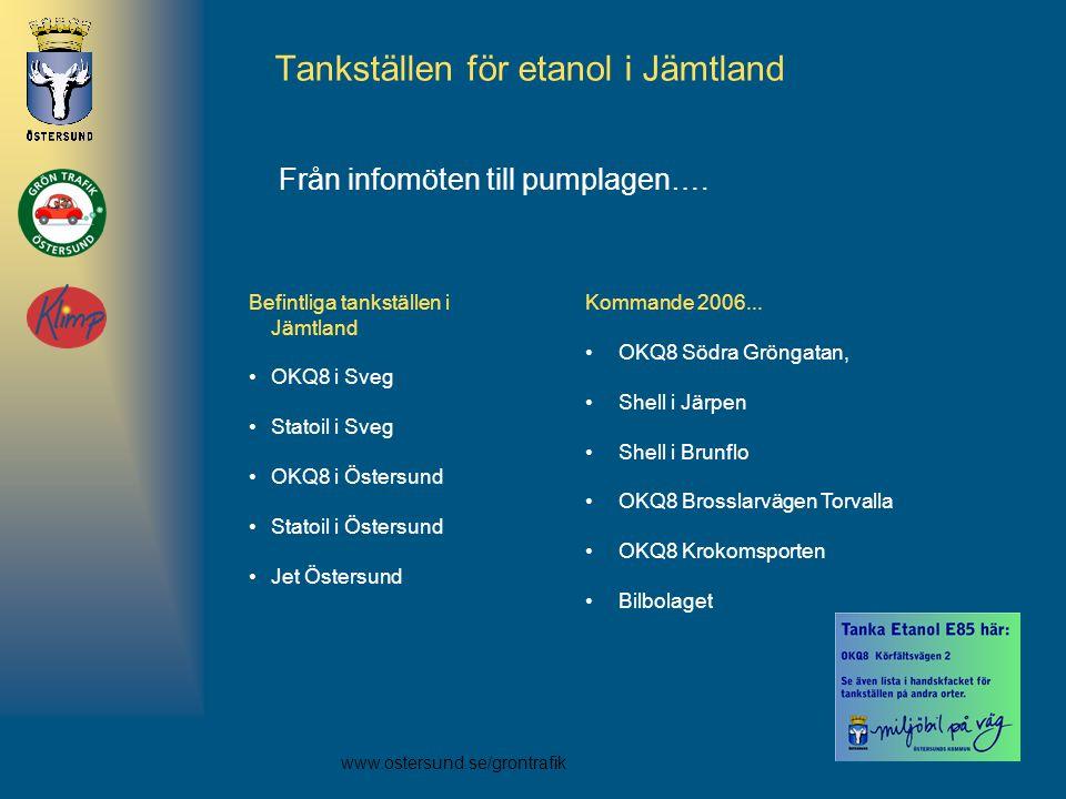 Tankställen för etanol i Jämtland