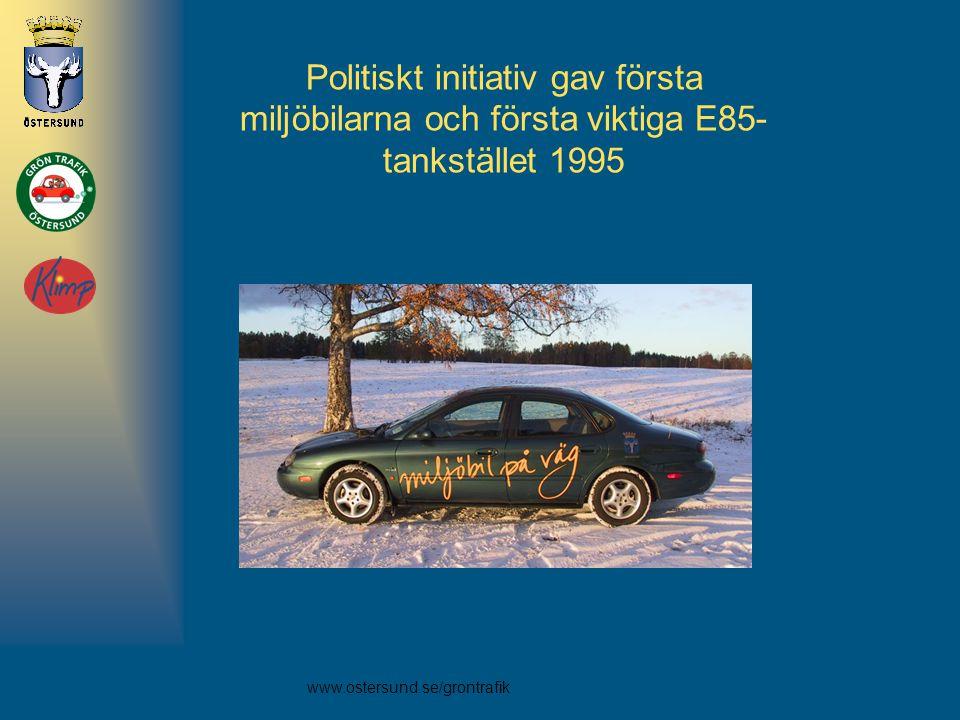 Politiskt initiativ gav första miljöbilarna och första viktiga E85- tankstället 1995
