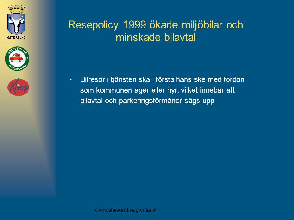 Resepolicy 1999 ökade miljöbilar och minskade bilavtal