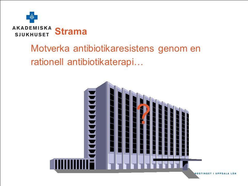 Motverka antibiotikaresistens genom en rationell antibiotikaterapi…