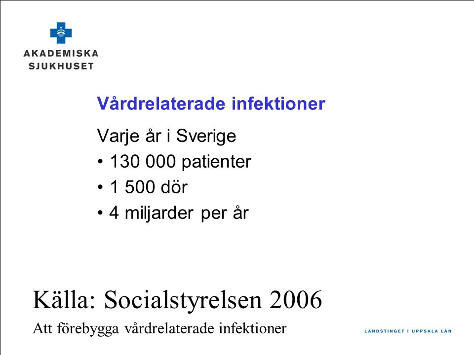 Vårdrelaterade infektioner
