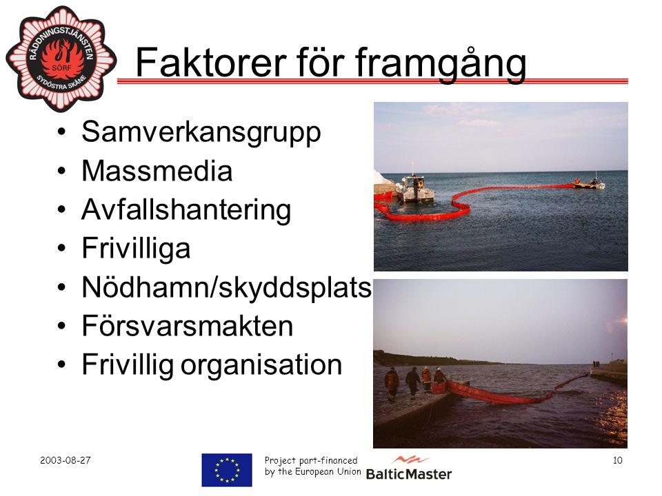 Faktorer för framgång Samverkansgrupp Massmedia Avfallshantering
