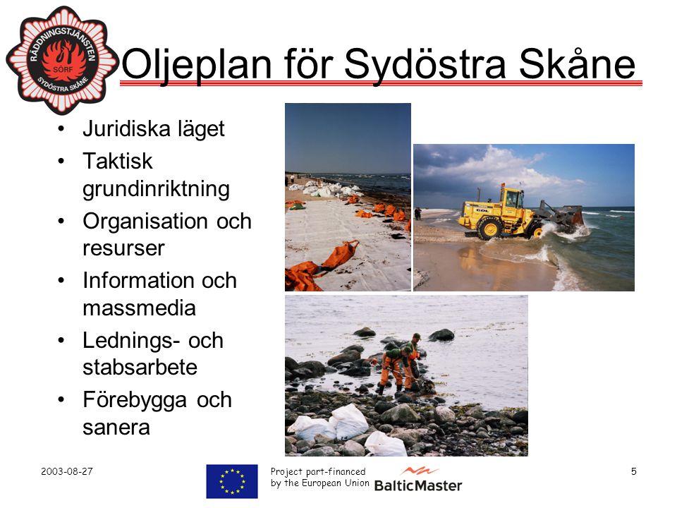 Oljeplan för Sydöstra Skåne