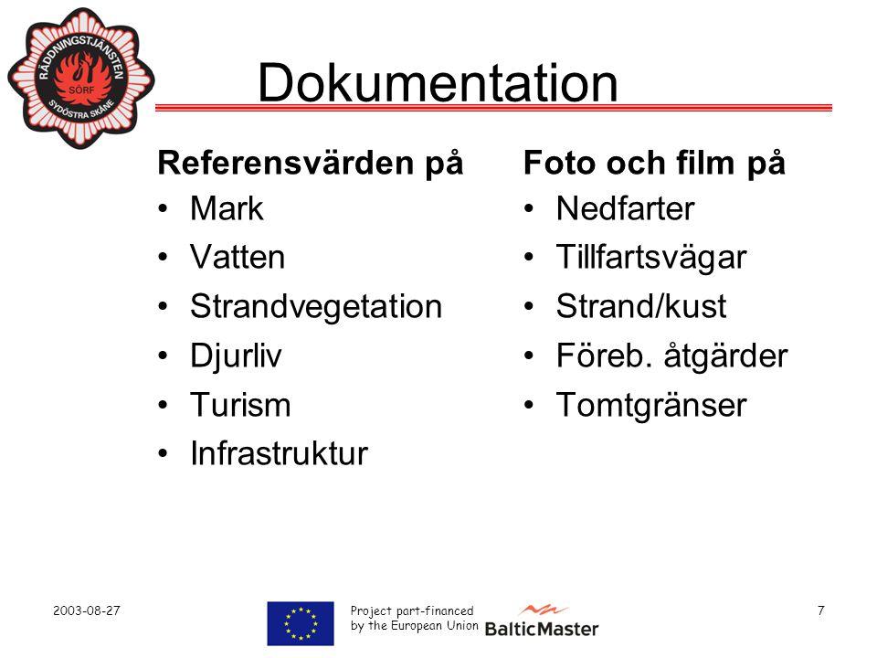 Dokumentation Referensvärden på Mark Vatten Strandvegetation Djurliv