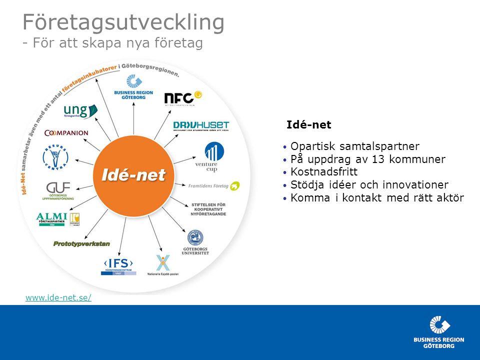 Företagsutveckling - För att skapa nya företag Idé-net