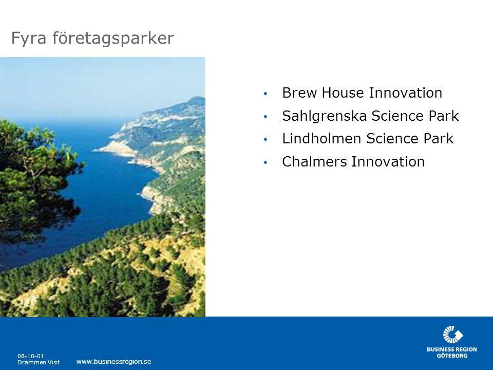 Fyra företagsparker Brew House Innovation Sahlgrenska Science Park