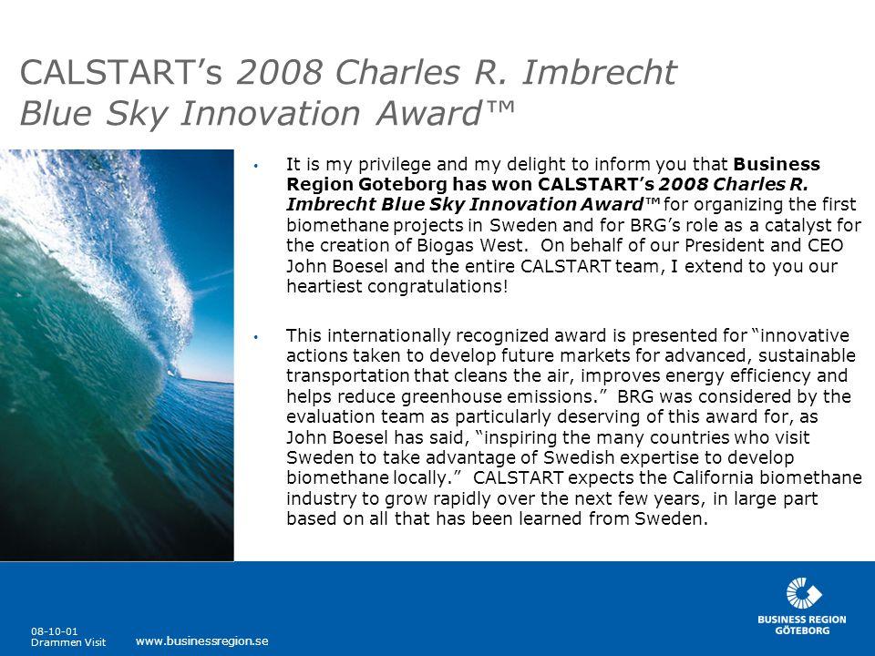 CALSTART's 2008 Charles R. Imbrecht Blue Sky Innovation Award™