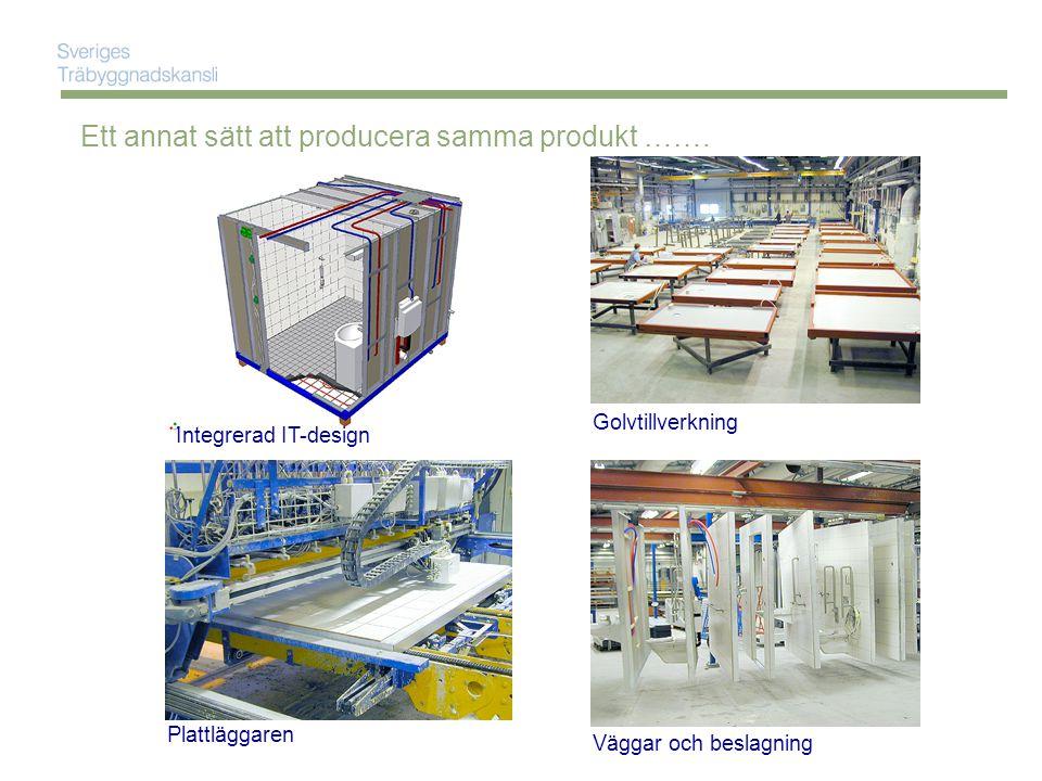 Ett annat sätt att producera samma produkt …….