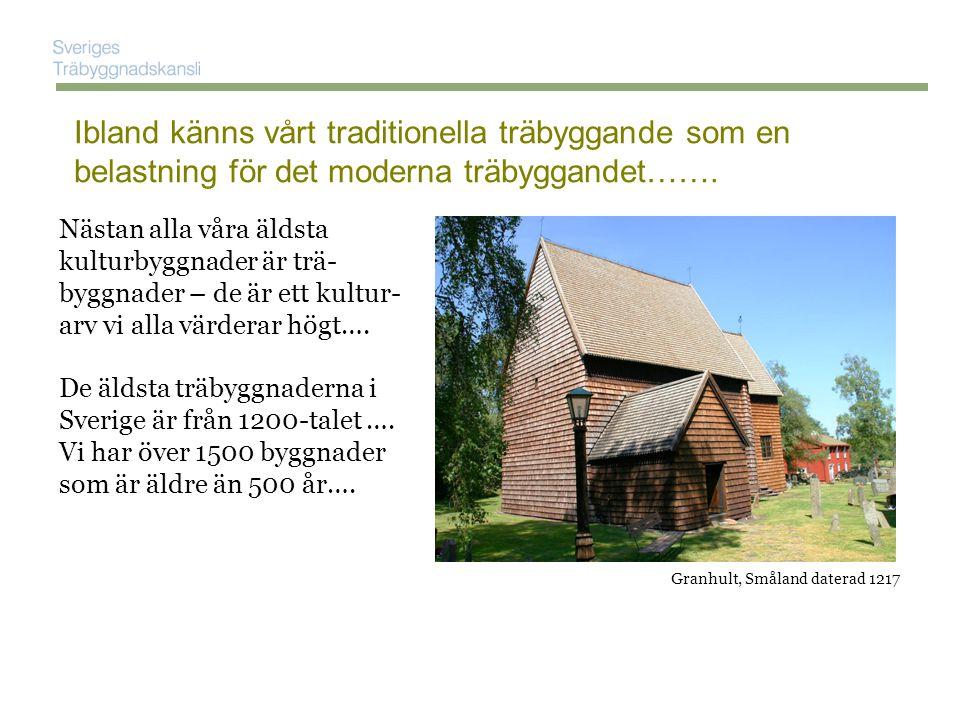 Ibland känns vårt traditionella träbyggande som en belastning för det moderna träbyggandet…….