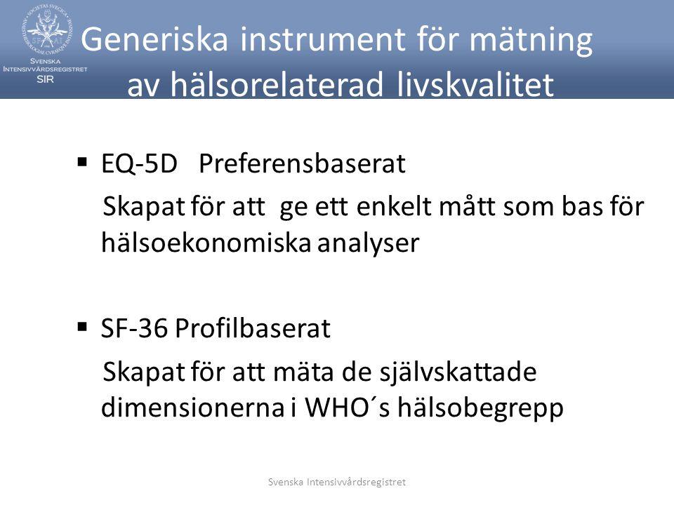 Generiska instrument för mätning av hälsorelaterad livskvalitet