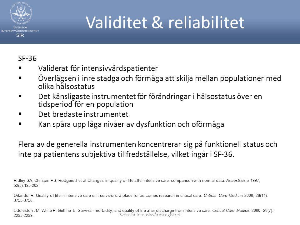 Validitet & reliabilitet