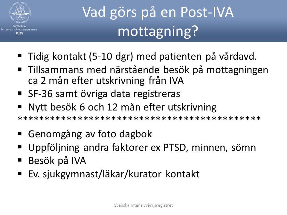 Vad görs på en Post-IVA mottagning