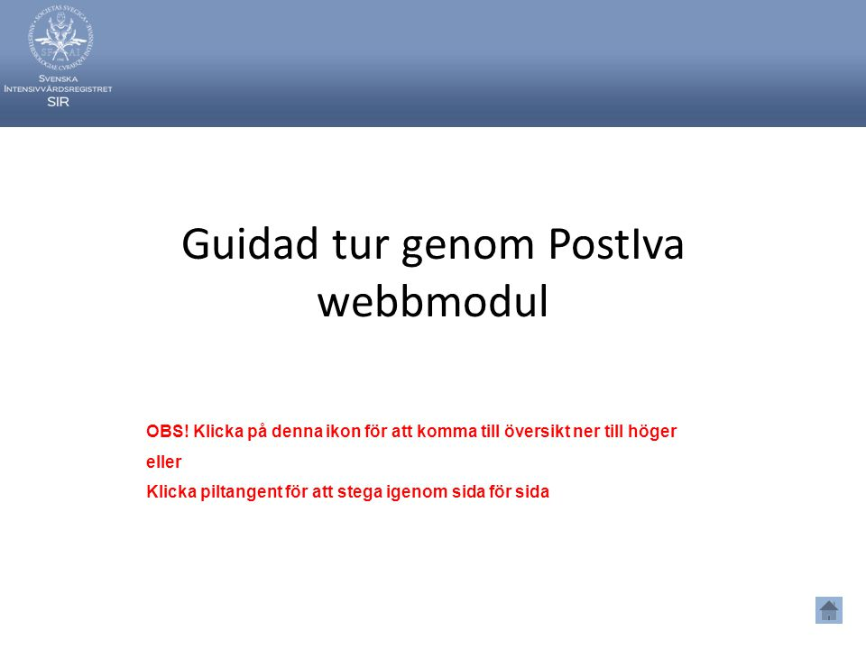 Guidad tur genom PostIva webbmodul