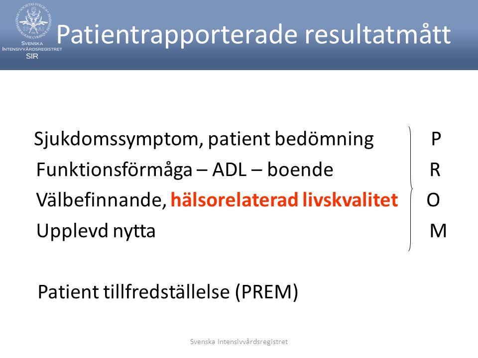 Patientrapporterade resultatmått