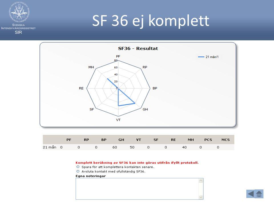 SF 36 ej komplett