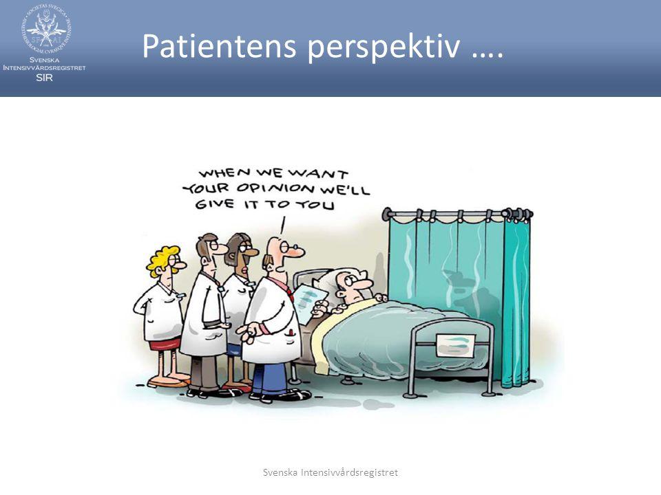 Patientens perspektiv ….