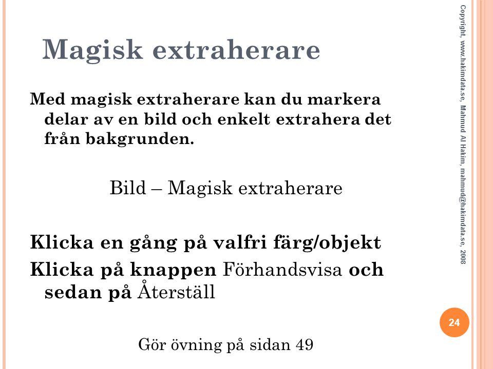 Bild – Magisk extraherare