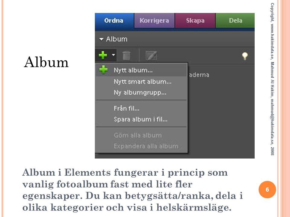 Album Copyright, www.hakimdata.se, Mahmud Al Hakim, mahmud@hakimdata.se, 2008.