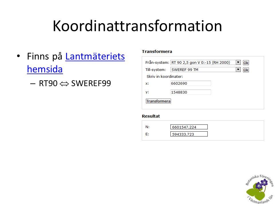 Koordinattransformation