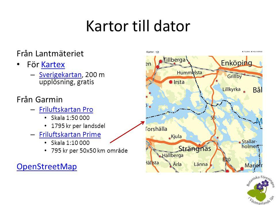 Kartor till dator Från Lantmäteriet För Kartex Från Garmin
