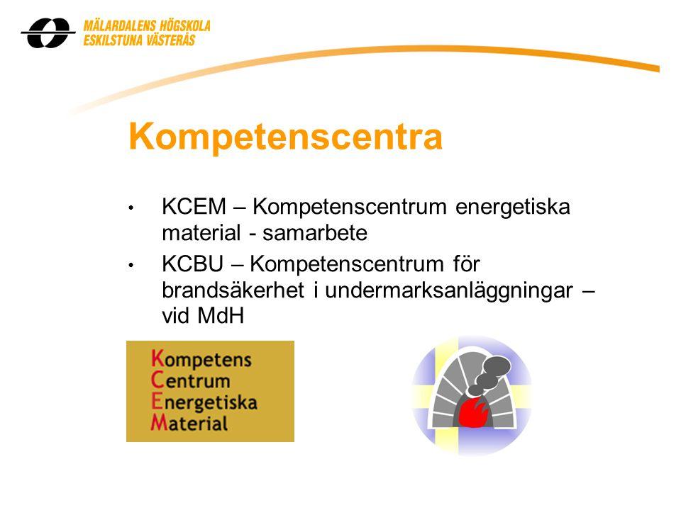 Kompetenscentra KCEM – Kompetenscentrum energetiska material - samarbete.
