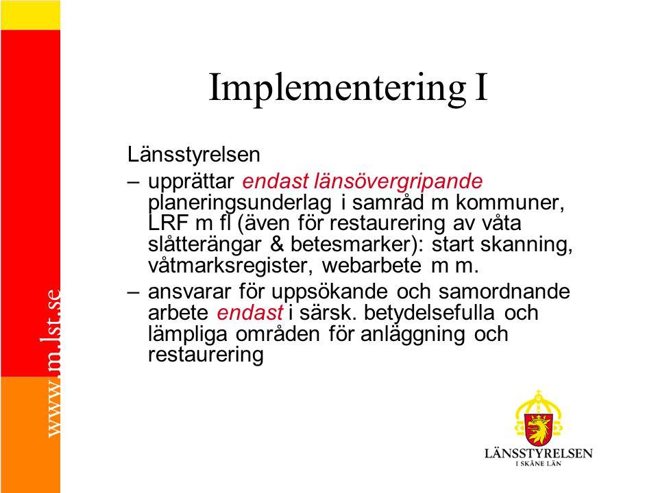Implementering I Länsstyrelsen
