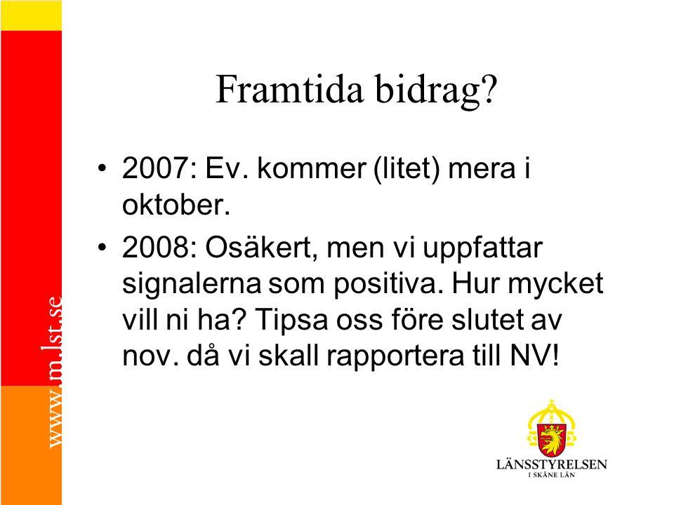 Framtida bidrag 2007: Ev. kommer (litet) mera i oktober.