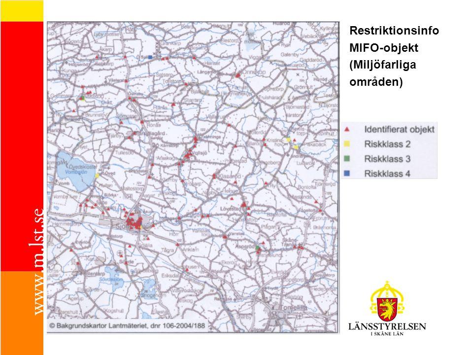 Restriktionsinfo MIFO-objekt (Miljöfarliga områden)