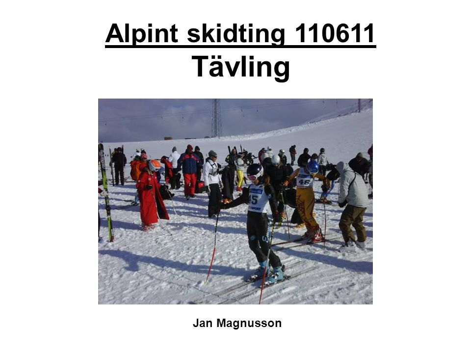 Alpint skidting 110611 Tävling