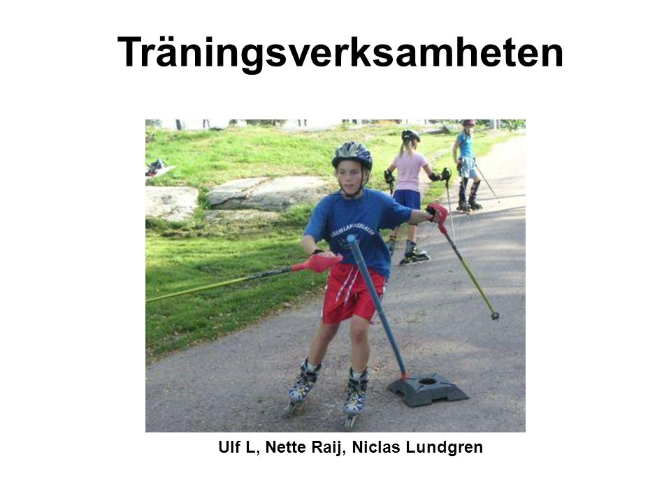 Träningsverksamheten Ulf L, Nette Raij, Niclas Lundgren
