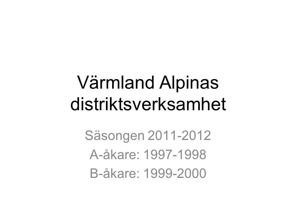Värmland Alpinas distriktsverksamhet