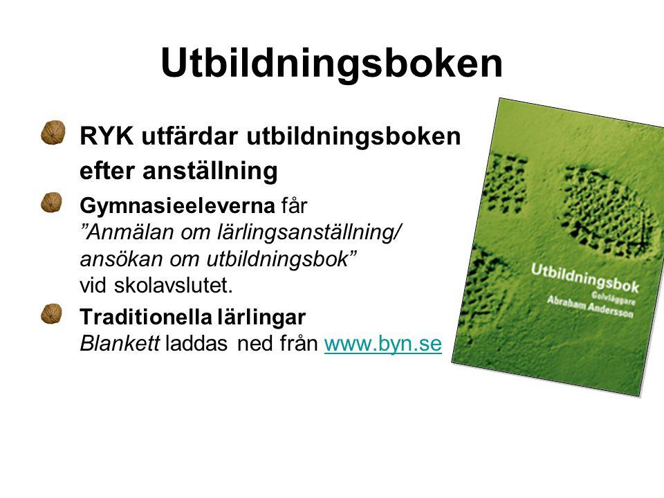 Utbildningsboken RYK utfärdar utbildningsboken efter anställning