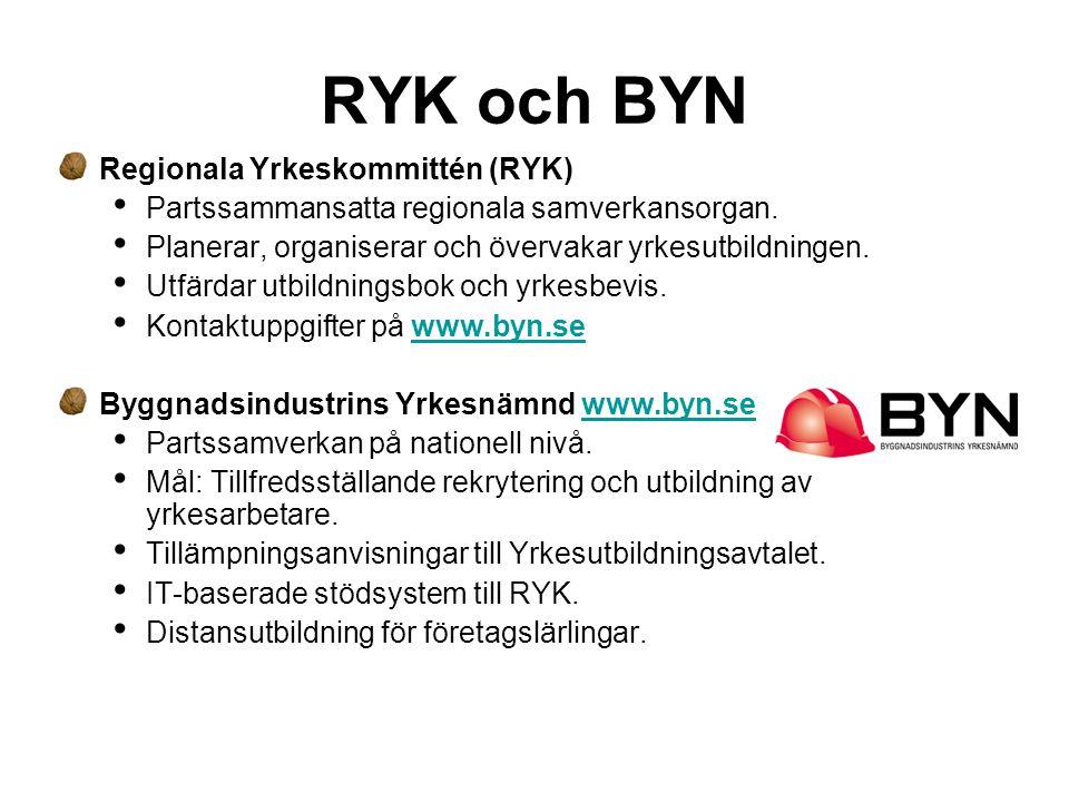 RYK och BYN Regionala Yrkeskommittén (RYK)