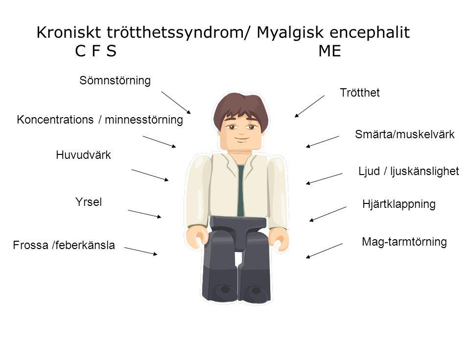 Kroniskt trötthetssyndrom/ Myalgisk encephalit C F S ME