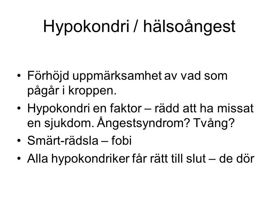 Hypokondri / hälsoångest