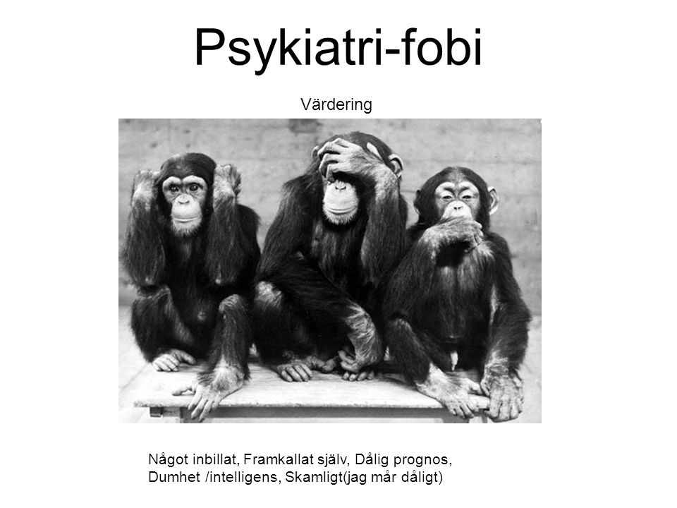 Psykiatri-fobi Värdering