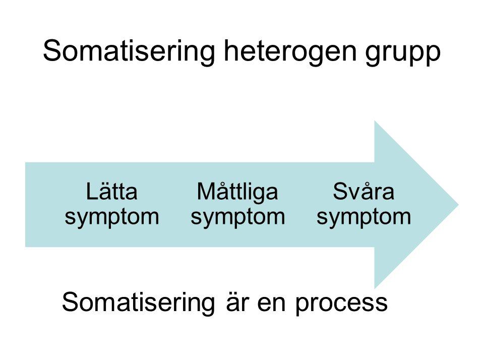 Somatisering heterogen grupp