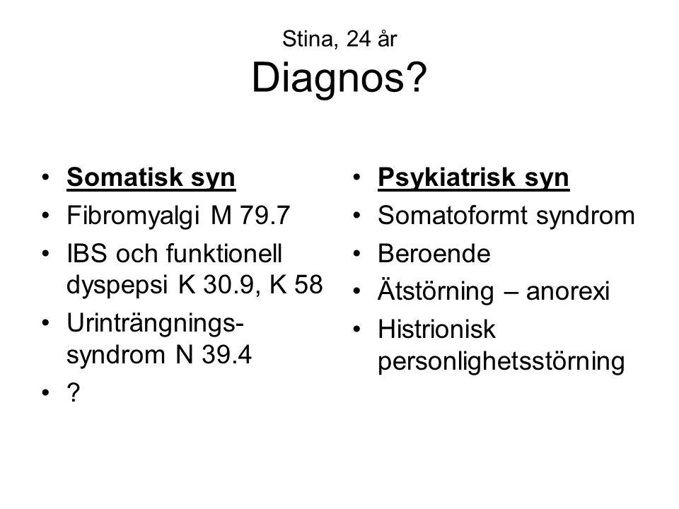 IBS och funktionell dyspepsi K 30.9, K 58