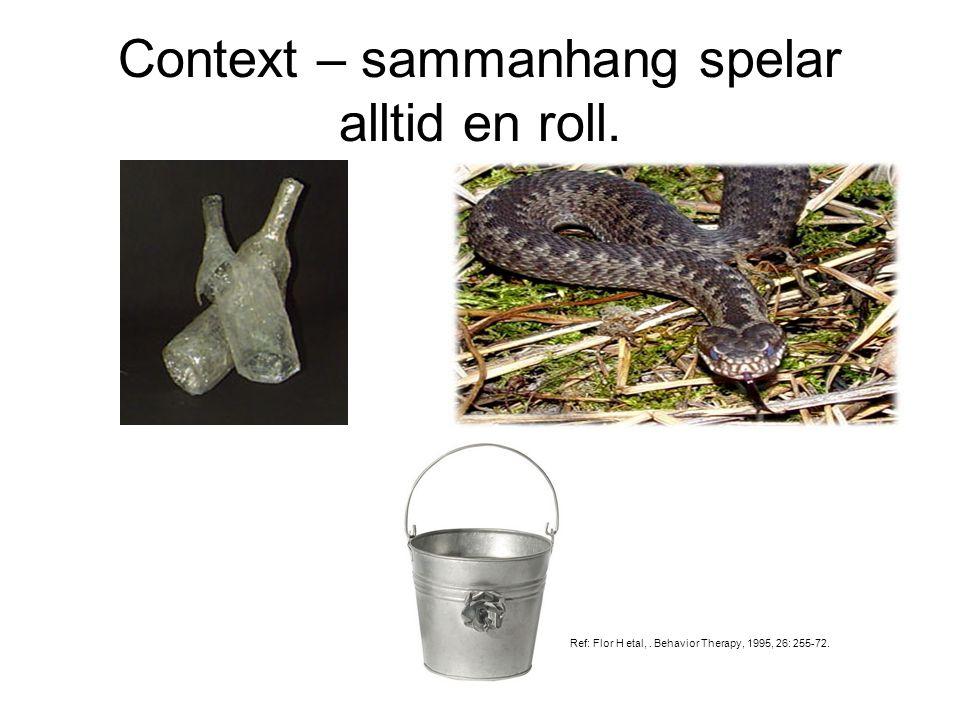 Context – sammanhang spelar alltid en roll.