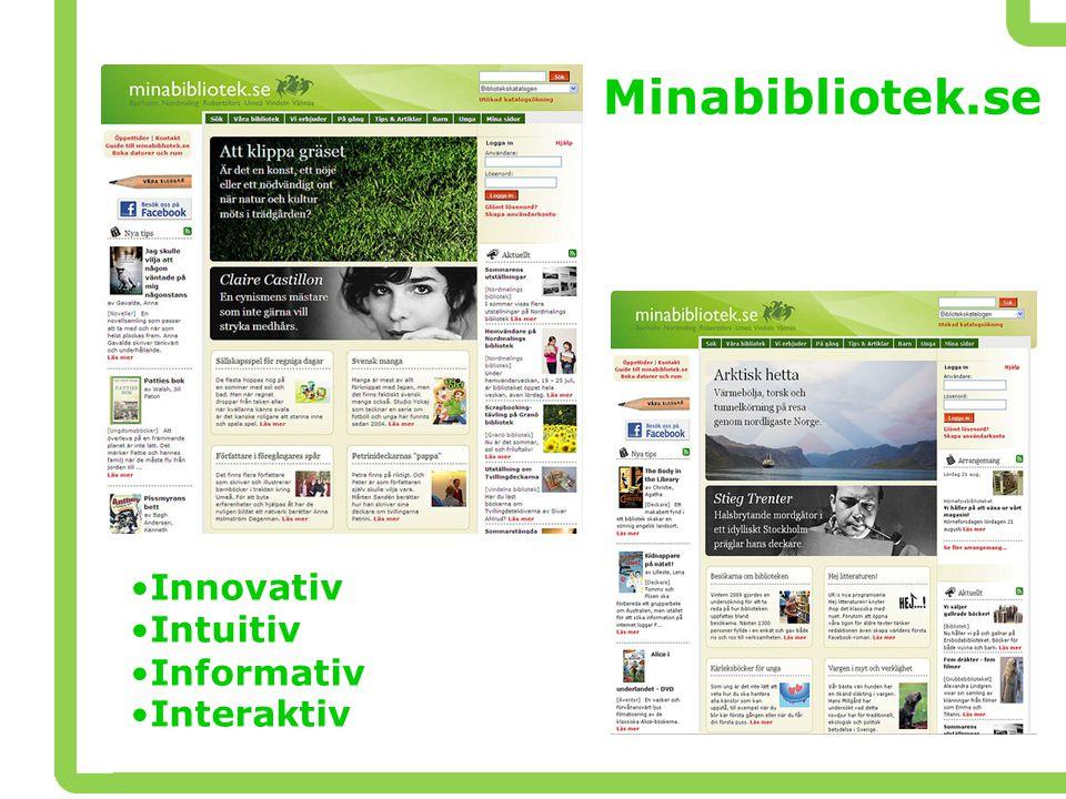 Minabibliotek.se Innovativ Intuitiv Informativ Interaktiv