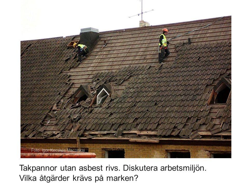Något form av skydd mot fallande föremål samt avspärrning av arbetsområdet skall finnas!