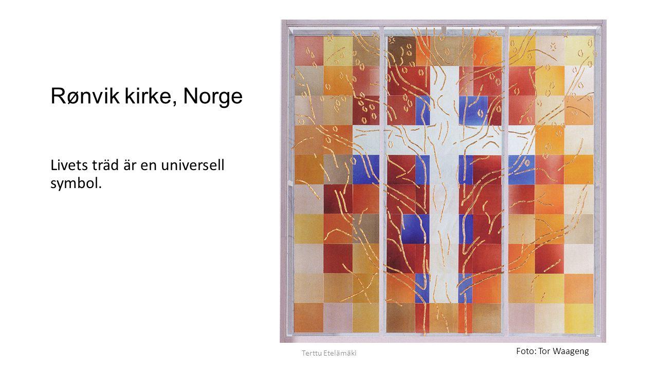 Rønvik kirke, Norge Livets träd är en universell symbol.