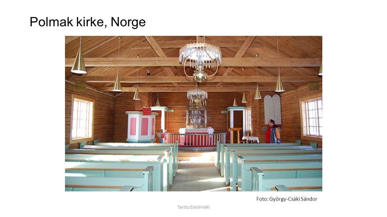 Polmak kirke, Norge Foto: György-Csáki Sándor Terttu Etelämäki