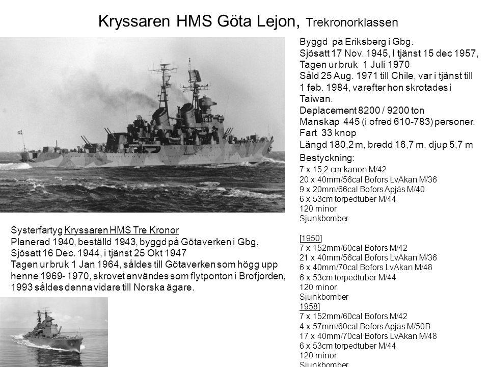 Kryssaren HMS Göta Lejon, Trekronorklassen