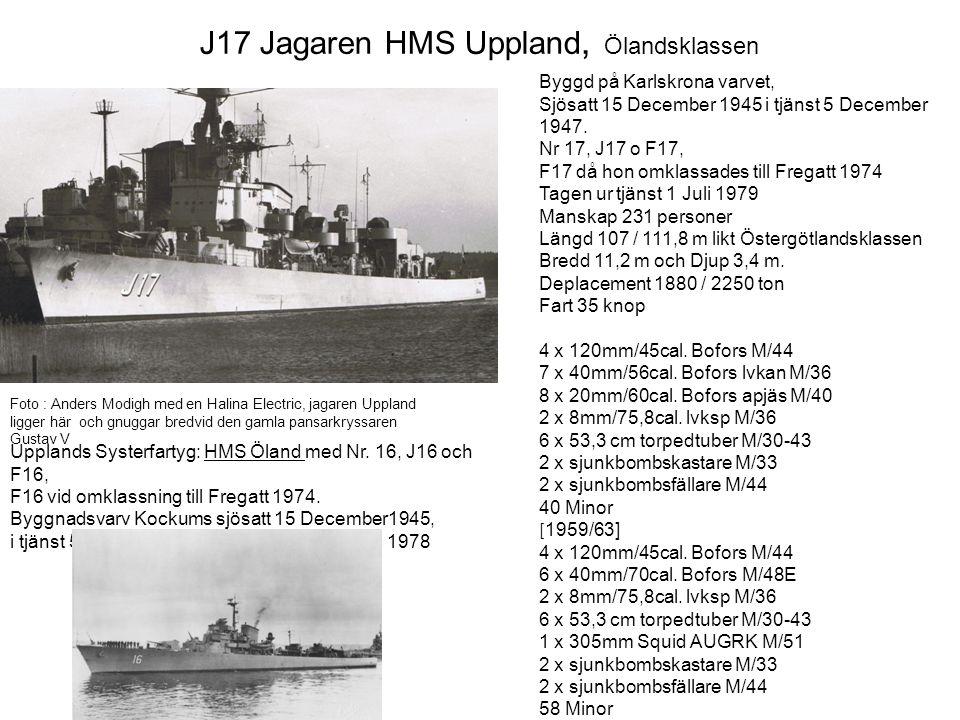 J17 Jagaren HMS Uppland, Ölandsklassen